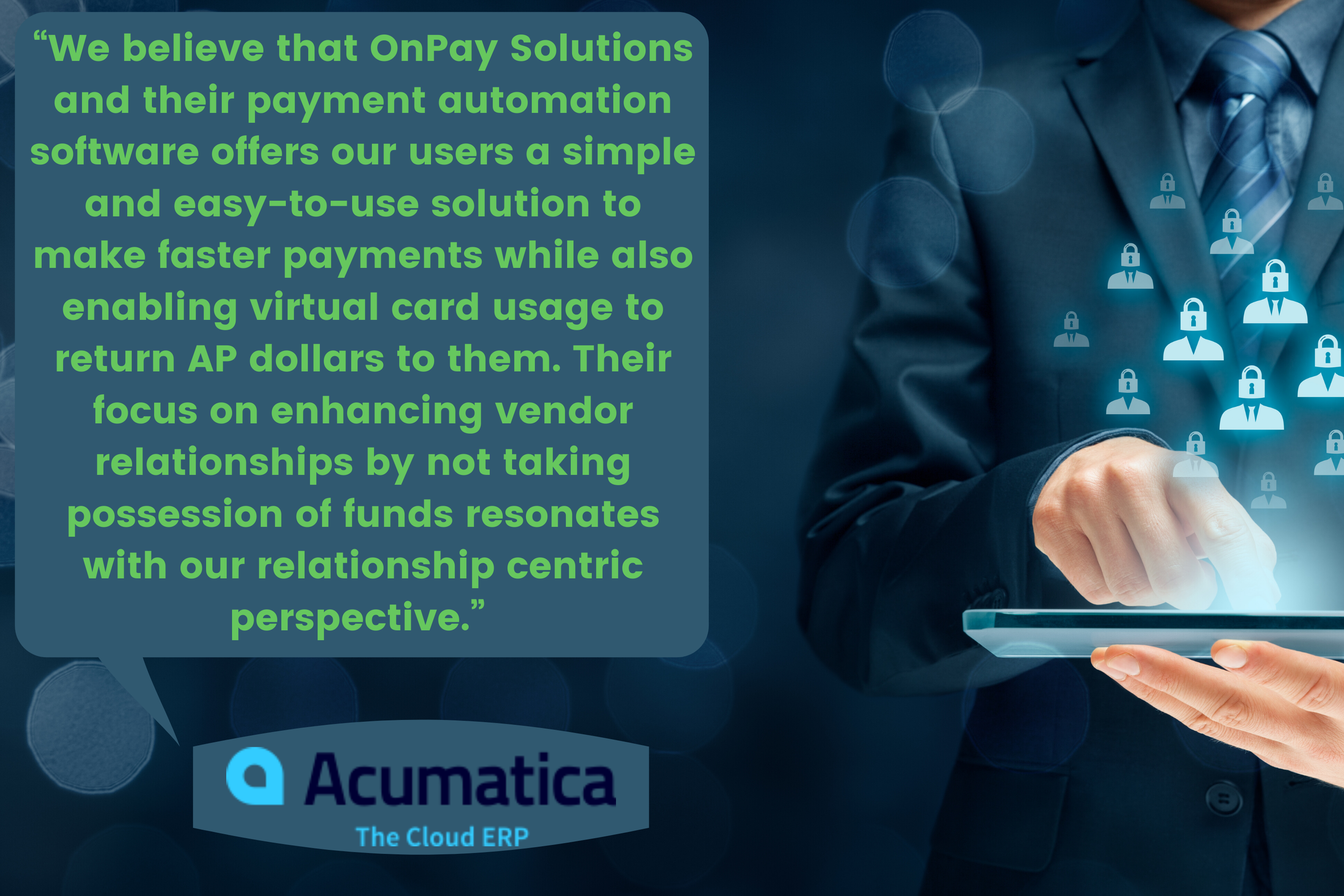 Acumatica ERP AP Integration Testimonial Onpay Solutions Image