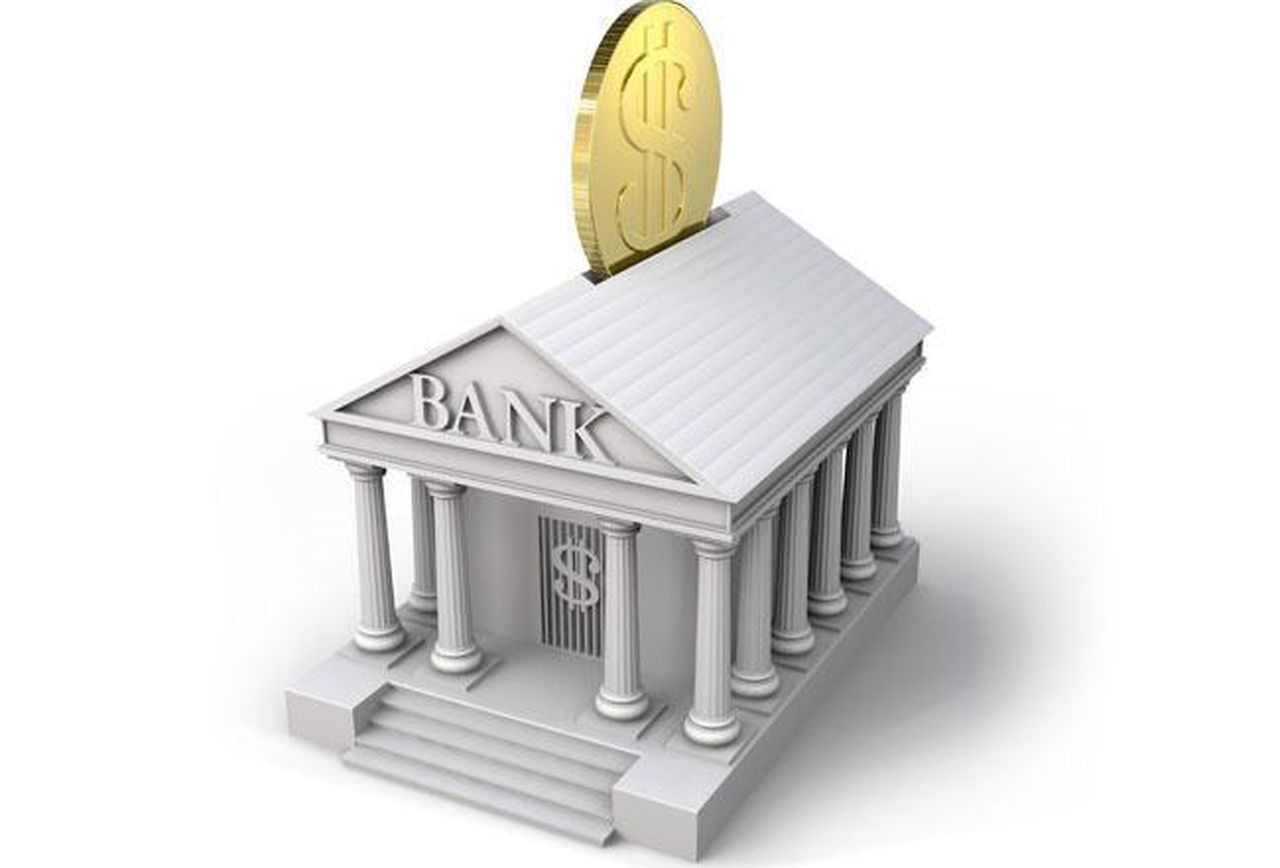 bank-with-gold-coin-entering-roof-conceptual-image