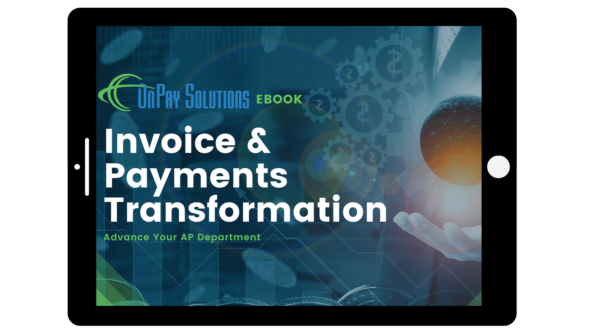 Invoice and Payments Transformation Title set into a tablet
